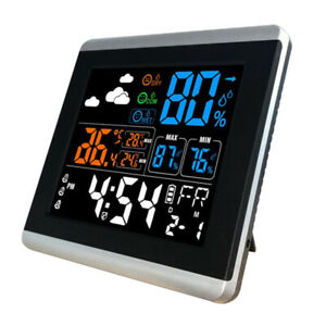 Digital Alarm Wall Clock Weather Station with Temperature Humidity Display
