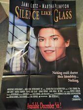 SILENCE LIKE GLASS (VIDEO DEALER 40 X 27 POSTER!, 1990S) JAMI GERTZ, M PLIMPTON