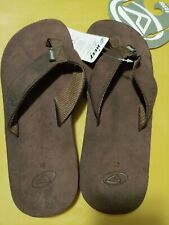 Men's Reef Sandal Flip Flop Leather Smoothy Brown Size 10 New