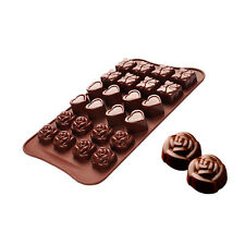 Chocolate Mold Rose Love Shape Silicone Food Grade Material Safety Dessert Mold