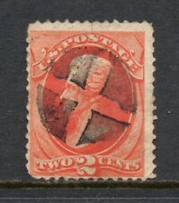 Scott # 178, Used, F, 2¢ Jackson, 1875, SON Circular Geometric Cancel