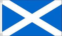 3ft x 2ft 100d Light Blue Scottish Saltire St Andrew Scotland National Flag