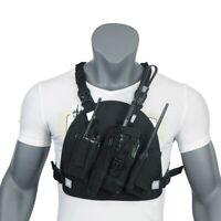 Walkie Talkie Chest Pocket Bags Pack, Harness Backpack Holster Walkie Talkie