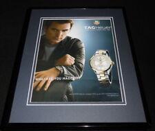 Jeff Gordon 2006 Tag Heuer Watches 11x14 Framed ORIGINAL Advertisement