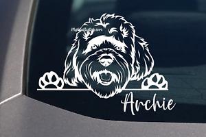 Peeking Cavoodle Sticker Dog Vinyl Decal Car Laptop Gift Cavoodle Mum Customize