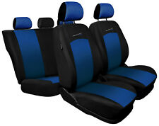 Full set of car seat covers fit Opel Insignia - black / blue sport style