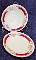 Homer Laughlin Brittany B1315 Saucers Set of 2 Rare Excellent