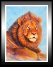 'Leo', Lion Oil Painting: A Fantastic Gift Idea!