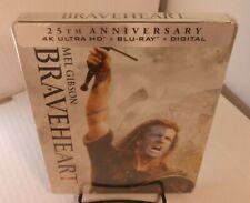 Braveheart 25th Anniversary Steelbook (4K+Blu-ray-No Digital) - Box Shipping~