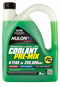 Nulon Long Life Green Top-Up Coolant 5L LLTU5 fits Ford Courier 1.8, 2.0, 2.0...