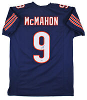 Bears Jim McMahon Authentic Signed Navy Blue Jersey Autographed BAS Witnessed