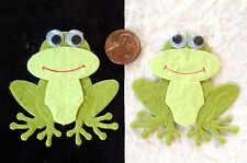 5 Frogs frog toad prince princess kiss Diecut Handmade Mulberry Paper Scrapbook