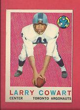 1959 TOPPS CFL FOOTBALL # 59 LARRY COWART