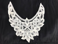 Handmade Lace Appliqué Collar RPG Style To Add To Clothing Dress