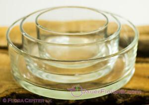 Glasschale Zylinder Schale klassisch aus Glas Durchmesser von 13,5 bis 25 cm
