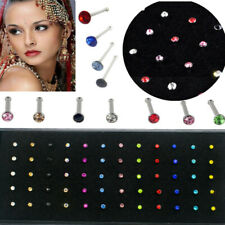 60Pc Wholesale Lots Mixed Crystal Nose Ring Bone Studs Body Piercing Jewelry 25G