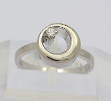 Ring in aus 750er 18kt Weiß Gold mit Brillant Brilliant Diamant Brillanten Gr.50