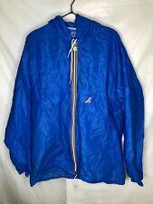 K WAY Men's Full Zip Waterproof Windproof Light Weight Jacket Blue M Medium