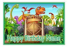 A4 nd3 Dinosauro T-REX Cartoon Compleanno Cake Topper personalizzato glassa Foglio