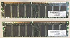 2 x Nanya NT256D64S88C0G-5T 256 MB PC3200U-30330 1Rx8 PC3200 DDR 400 MHz CL3