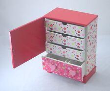 NEW Girls Beautiful Wooden Jewellery Gifts Box Pink Vinilla 07 Large Size 0.5k