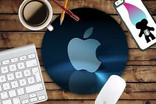 New Apple Style9 Neoprene Mousepad Mat Pad Black Color With White Logo Round Mac
