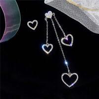 Drop Earrings Goldtone Women Dangle Heart Mismatched Piercing Jewelry G