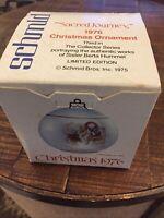 "Schmid Bros. Berta Hummel Christmas 1976 Vintage Ornament ""Sacred Journey"" Box-I"