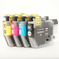 OLD CHIP 4 pack LC3017XL Cartridge for Brother LC3017 MFC-J5330dw J6930dw