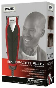 Wahl Corded Bald fader Plus Ultra Close-Cut Hair Clipper Trimmer Grooming Set