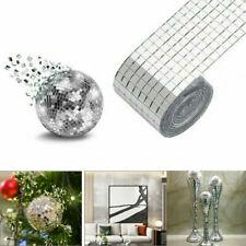 1464-DIY Home Decor Mirror Tiles Wall Sticker Square Self Adhesive Stick-O #Y16