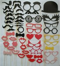 DIY 50Pcs Photo Booth Hats Prop Moustache Lip Bow Tie Wedding Party Photography