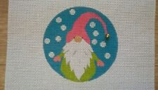 Hand Painted Gnome Needlepoint Ornament
