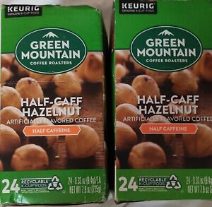 Green Mountain Half-Caff Hazelnut Flavored Keurig Coffee 48 Count K-cups 2/2022