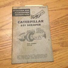 CAT Caterpillar 621 OPERATION & MAINTENANCE MANUAL TRACTOR SCRAPER sn 37G GUIDE