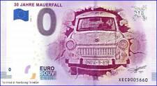 30 Jahre Mauerfall 2019 0 Euro Schein Null € Souvenir 2018-1 ohne Birgit Kinder