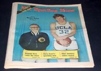 THE SPORTING NEWS COMPLETE NEWSPAPER MARCH 17 1973 JOHN WOODEN & BILL WALTON