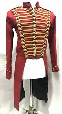 "Women's Steampunk Red/Gold Hussar Ceremonial Tail Jacket  Fit Chest 36"",38"",40"""