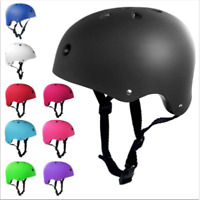 Adult Kids Skateboard Helmet&Protector For Skate BMX Scooter Stunt Bike UK mil