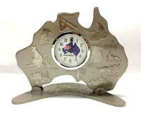 Australia Map Clock w Movement Australia Souvenir Clock Australian Gift-Silver