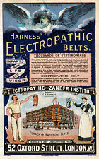 Vintage  Advertising poster  A4 Photo RE PRINT  Electropathic Belts 1893