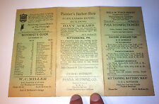 Antique PA Railroad Schedule Superb Transportation, Oil & Gas Advertising! Cars!