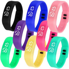 Multi-Color Womens Ladies Mens Kids Digital LED Waterproof Sports Wrist Watches