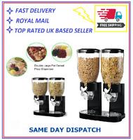Double Cereal Dispenser Machine Dry Food Storage Pasta Container