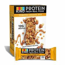 KIND Protein Bars, Toasted Caramel Nut, Gluten Free12g Protein,1.76oz, 12 count