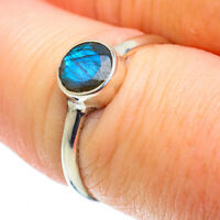 Labradorite 925 Sterling Silver Ring Size 8.5 Ana Co Jewelry R51787F