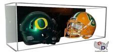 Acrylic Wall Mount Double Mini Helmet Display Case NFL NCAA UV Protect GameDay