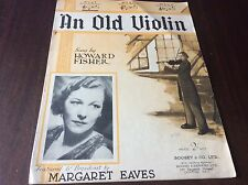 Un vieux violon par Howard Fisher Sheet Music Voice & piano boosy & Hawkes 1929