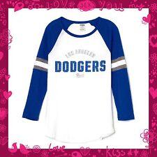fcc77cec4 VICTORIA S SECRET Pink Dodgers Baseball Varsity Rare raglan Crew LA Dodgers  Med