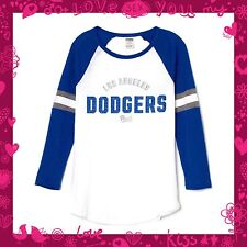 VICTORIA'S SECRET Pink Dodgers Baseball Varsity Rare Crew LA Dodgers Med